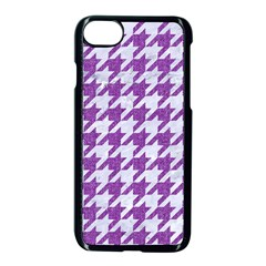 Houndstooth1 White Marble & Purple Denim Apple Iphone 7 Seamless Case (black) by trendistuff