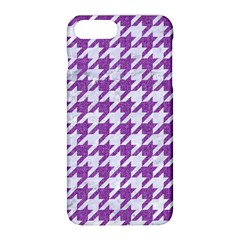 Houndstooth1 White Marble & Purple Denim Apple Iphone 8 Plus Hardshell Case by trendistuff