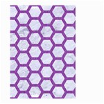 HEXAGON2 WHITE MARBLE & PURPLE DENIM (R) Large Garden Flag (Two Sides) Front