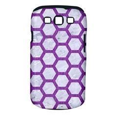 Hexagon2 White Marble & Purple Denim (r) Samsung Galaxy S Iii Classic Hardshell Case (pc+silicone) by trendistuff