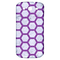 Hexagon2 White Marble & Purple Denim (r) Samsung Galaxy S3 S Iii Classic Hardshell Back Case by trendistuff