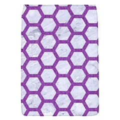 Hexagon2 White Marble & Purple Denim (r) Flap Covers (s)  by trendistuff