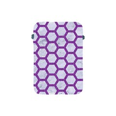Hexagon2 White Marble & Purple Denim (r) Apple Ipad Mini Protective Soft Cases by trendistuff