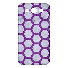 Hexagon2 White Marble & Purple Denim (r) Samsung Galaxy Mega 5 8 I9152 Hardshell Case  by trendistuff