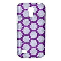 Hexagon2 White Marble & Purple Denim (r) Galaxy S4 Mini by trendistuff