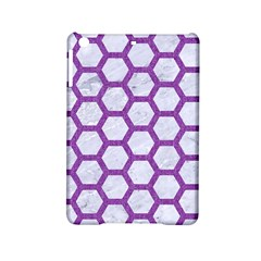 Hexagon2 White Marble & Purple Denim (r) Ipad Mini 2 Hardshell Cases by trendistuff