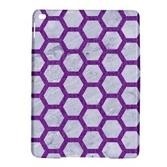 Hexagon2 White Marble & Purple Denim (r) Ipad Air 2 Hardshell Cases by trendistuff