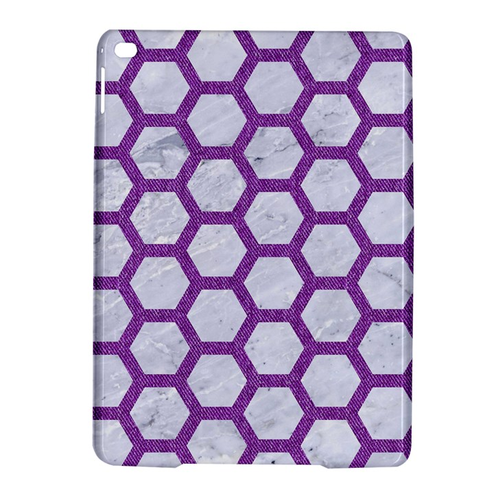 HEXAGON2 WHITE MARBLE & PURPLE DENIM (R) iPad Air 2 Hardshell Cases