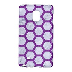 Hexagon2 White Marble & Purple Denim (r) Galaxy Note Edge