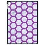 HEXAGON2 WHITE MARBLE & PURPLE DENIM (R) Apple iPad Pro 9.7   Black Seamless Case Front