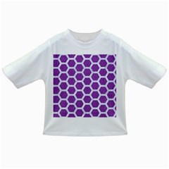 HEXAGON2 WHITE MARBLE & PURPLE DENIM Infant/Toddler T-Shirts