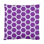 HEXAGON2 WHITE MARBLE & PURPLE DENIM Standard Cushion Case (Two Sides) Back