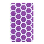 HEXAGON2 WHITE MARBLE & PURPLE DENIM Memory Card Reader Front