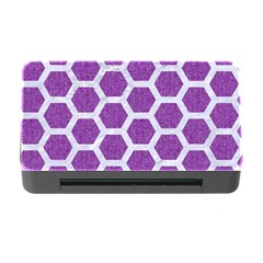 HEXAGON2 WHITE MARBLE & PURPLE DENIM Memory Card Reader with CF