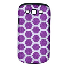 Hexagon2 White Marble & Purple Denim Samsung Galaxy S Iii Classic Hardshell Case (pc+silicone) by trendistuff