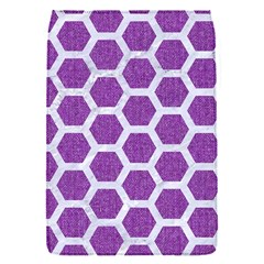 Hexagon2 White Marble & Purple Denim Flap Covers (s)  by trendistuff