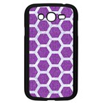 HEXAGON2 WHITE MARBLE & PURPLE DENIM Samsung Galaxy Grand DUOS I9082 Case (Black) Front