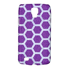 Hexagon2 White Marble & Purple Denim Galaxy S4 Active by trendistuff