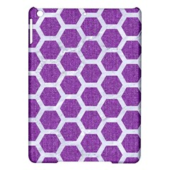 Hexagon2 White Marble & Purple Denim Ipad Air Hardshell Cases by trendistuff