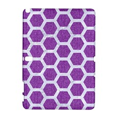 Hexagon2 White Marble & Purple Denim Galaxy Note 1 by trendistuff