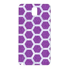 Hexagon2 White Marble & Purple Denim Samsung Galaxy Note 3 N9005 Hardshell Back Case by trendistuff