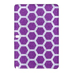 Hexagon2 White Marble & Purple Denim Samsung Galaxy Tab Pro 12 2 Hardshell Case