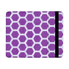 Hexagon2 White Marble & Purple Denim Samsung Galaxy Tab Pro 8 4  Flip Case