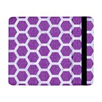 HEXAGON2 WHITE MARBLE & PURPLE DENIM Samsung Galaxy Tab Pro 8.4  Flip Case Front