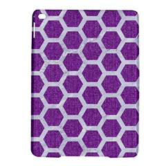 Hexagon2 White Marble & Purple Denim Ipad Air 2 Hardshell Cases by trendistuff