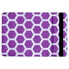 Hexagon2 White Marble & Purple Denim Ipad Air 2 Flip by trendistuff