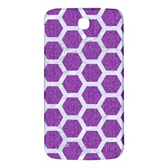 Hexagon2 White Marble & Purple Denim Samsung Galaxy Mega I9200 Hardshell Back Case by trendistuff