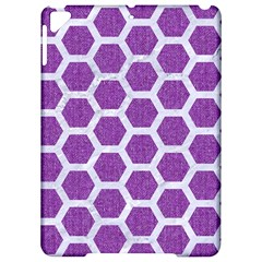 Hexagon2 White Marble & Purple Denim Apple Ipad Pro 9 7   Hardshell Case by trendistuff