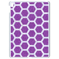 Hexagon2 White Marble & Purple Denim Apple Ipad Pro 9 7   White Seamless Case by trendistuff