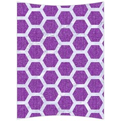 HEXAGON2 WHITE MARBLE & PURPLE DENIM Back Support Cushion