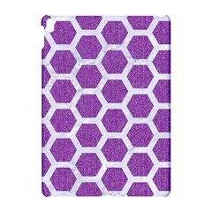 Hexagon2 White Marble & Purple Denim Apple Ipad Pro 10 5   Hardshell Case by trendistuff
