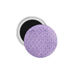 Hexagon1 White Marble & Purple Denim (r) 1 75  Magnets by trendistuff