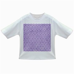 Hexagon1 White Marble & Purple Denim (r) Infant/toddler T Shirts