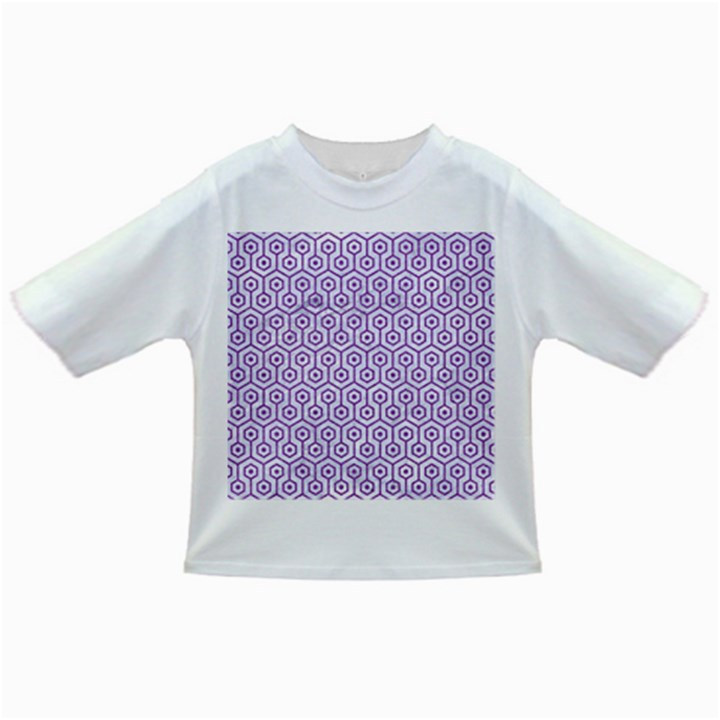 HEXAGON1 WHITE MARBLE & PURPLE DENIM (R) Infant/Toddler T-Shirts