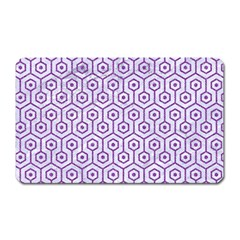 Hexagon1 White Marble & Purple Denim (r) Magnet (rectangular)