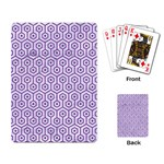 HEXAGON1 WHITE MARBLE & PURPLE DENIM (R) Playing Card Back