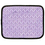HEXAGON1 WHITE MARBLE & PURPLE DENIM (R) Netbook Case (Large) Front