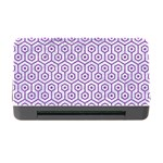 HEXAGON1 WHITE MARBLE & PURPLE DENIM (R) Memory Card Reader with CF Front