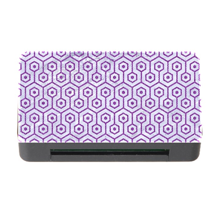 HEXAGON1 WHITE MARBLE & PURPLE DENIM (R) Memory Card Reader with CF
