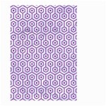 HEXAGON1 WHITE MARBLE & PURPLE DENIM (R) Large Garden Flag (Two Sides) Front