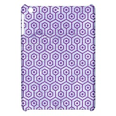 Hexagon1 White Marble & Purple Denim (r) Apple Ipad Mini Hardshell Case