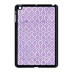 Hexagon1 White Marble & Purple Denim (r) Apple Ipad Mini Case (black) by trendistuff