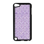 HEXAGON1 WHITE MARBLE & PURPLE DENIM (R) Apple iPod Touch 5 Case (Black) Front