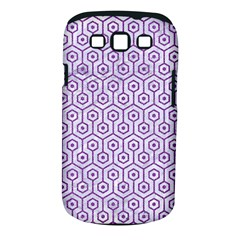 Hexagon1 White Marble & Purple Denim (r) Samsung Galaxy S Iii Classic Hardshell Case (pc+silicone)