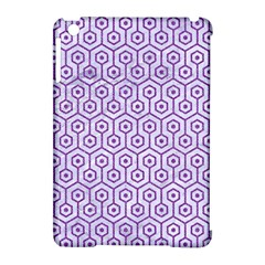 Hexagon1 White Marble & Purple Denim (r) Apple Ipad Mini Hardshell Case (compatible With Smart Cover) by trendistuff