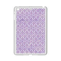 Hexagon1 White Marble & Purple Denim (r) Ipad Mini 2 Enamel Coated Cases by trendistuff
